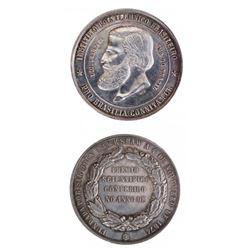 Brazil 1874 Dom Pedro II Silver Medal