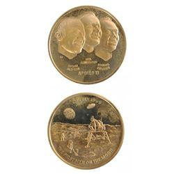 United States 1969 Apollo XI Gold Medal