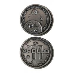 Two U.S. 1969 Apollo XI Silver Medals