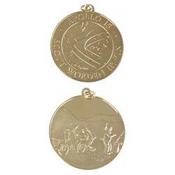 U.S. 1971 Apollo XV Gold Pendant Medal