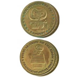 Two U.S. 1969 Apollo XI Gold Medals