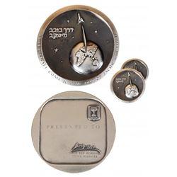 3 Israel 1962 Silver Presentation Medals