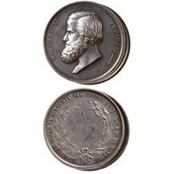 2 Brazil 1879 Dom Pedro II Silver Medals