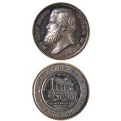 Brazil 1858 Dom Pedro II Silver Medal