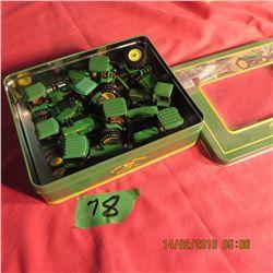 Box of miniature tractors