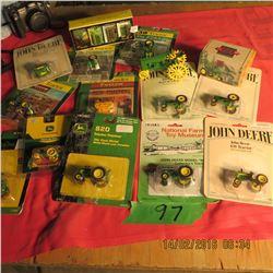 21 John Deere 2 cylinder tractors