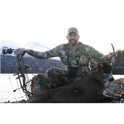 Sitka Blacktail Deer hunt on Kodiak Island in Alaska for One (1) Hunter
