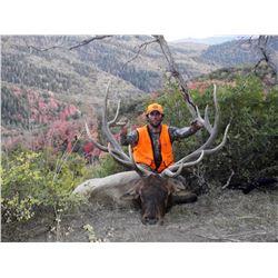 2017 Utah La Sal, La Sal Mtns Multi Season Bull Elk Conservation Permit