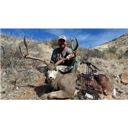 7-Day Fully Outfitted Arizona Mule Deer/ Coues Deer Hunt for One (1) Hunter