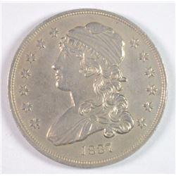 1837 BUST QUARTER AU/BU