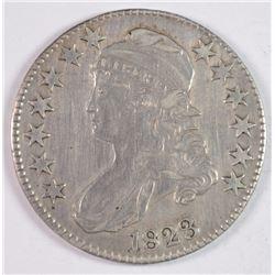 1823 BUST HALF DOLLAR XF+