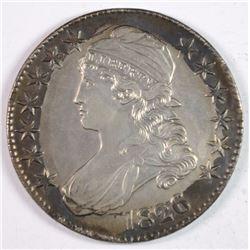 1826 BUST HALF DOLLAR AU