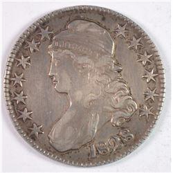 1828 BUST HALF DOLLAR XF++