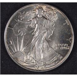 1943 WALKING LIBERTY HALF DOLLAR CHOICE BU+