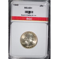 1949 WASHINGTON QUARTER BGC GEM BU+