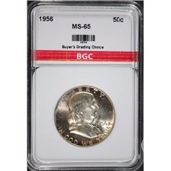 1956 FRANKLIN HALF DOLLAR BGC GEM BU