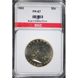 1962 FRANKLIN HALF DOLLAR BGC GEM PROOF