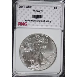 2016 AMERICAN SILVER EAGLE RNG PERFECT GEM