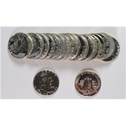 GEM PROOF ROLL FRANKLIN HALF DOLLARS 57-63