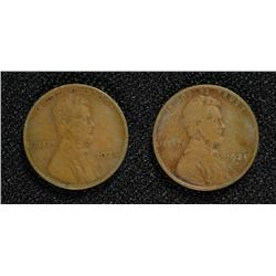 2- 1924-D LINCOLN CENTS KEY DATE G-VG