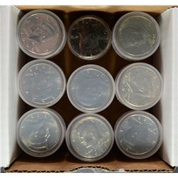 ( 9 ) BU ROLLS OF KENNEDY HALF DOLLARS: DATES COULD RANGE FROM 1971-2001