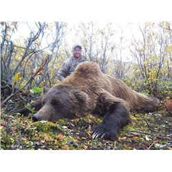 ARCTIC NORTH GUIDES: 10-Day Brown Bear Hunt for Two Hunters in Western Alaska
