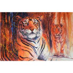 "BLACKWELL WILDLIFE: ""Tiger, Tiger"" - Original Acrylic on Canvas by 2017 DSC Artist of the Year Peter"