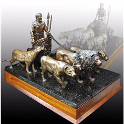 "WILD ARTS BY RAJ PAUL: ""The Arrogance of Rome"" - Limited Edition Bronze by Raj Paul"