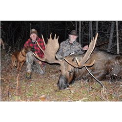 DRIFTWOOD VALLEY: 10-day 2x1 Moose Hunt for One Hunter in Canada - Includes Trophy Fee