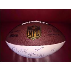 NFL FOOTBALL SIGNED BY THE ENTIRE 2016 CHICAGO BEARS TEAM
