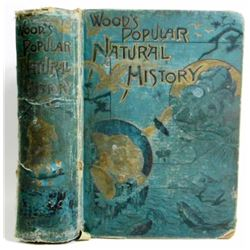 """ANTIQUE """"WOOD'S POPULAR NATURAL HISTORY"""" HARDCOVER BOOK"""