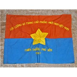 VIET NAM ERA VIET CONG VC COMBAT BATTLE FLAG