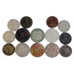 LOT OF APPROX. 14 VINTAGE GERMAN NAZI COINS - REICHS MARK