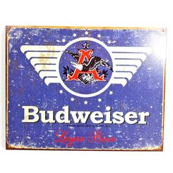 BUDWEISER BEER ADVERTISING METAL SIGN