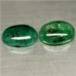 LOT OF 4.29 CTS OF GREEN ZAMBIAN EMERALDS