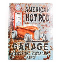 AMERICAN HOTROD GARAGE METAL SIGN