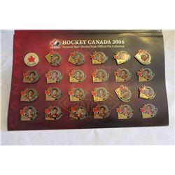 Hockey Canada 2006 Pin Collection