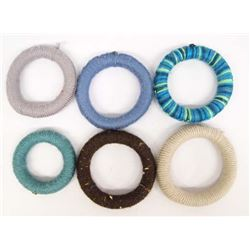 Mexican Mata Ortiz Yarn Covered Pottery Rings