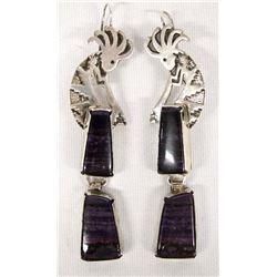 Native American Navajo Sterling Sugilite Earrings