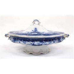 Edge Malkin & Co. Ltd. Burslem Cobalt Blue Tureen