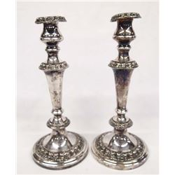 Pair of Reed & Barton Silver Plated Candlesticks