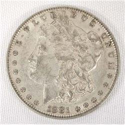 1881 Morgan Silver Dollar, Extra Fine