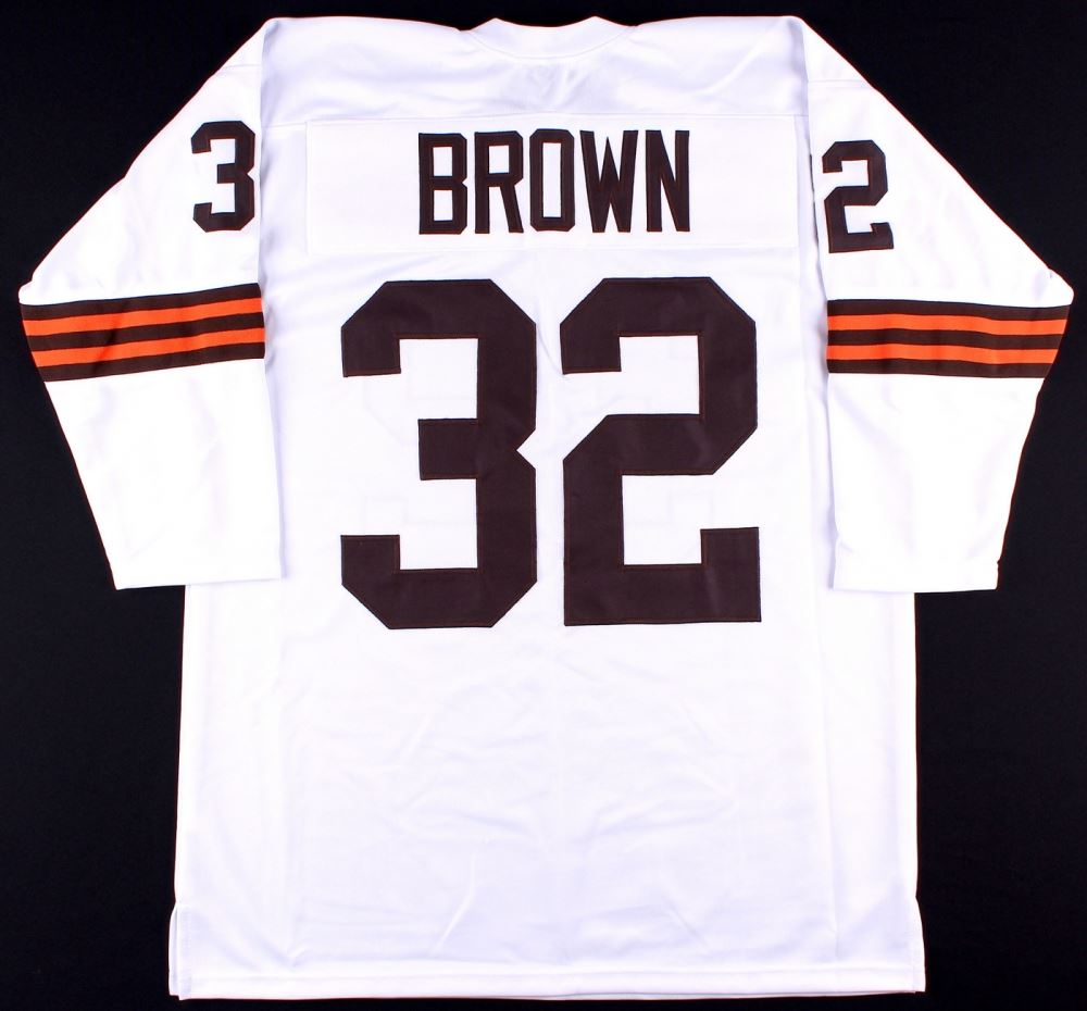 detailed look 135a5 c904b Jim Brown Cleveland Browns On-Field Style Custom Stitched ...