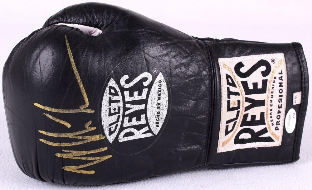 Mike Tyson Signed Black Cleto Reyes Boxing Glove (JSA COA)