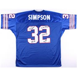 884c30dc71b O.J. Simpson Signed Bills Jersey With (4) Inscriptions