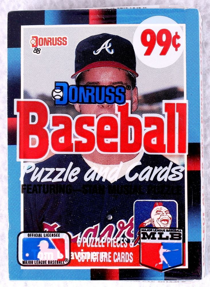 1988 Donruss Baseball Puzzle Cards Pack With Stan Musial