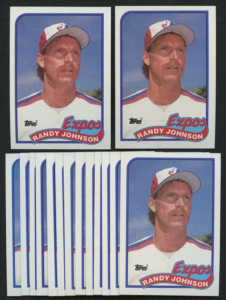 Lot Of 15 Randy Johnson 1989 Topps 647 Rc