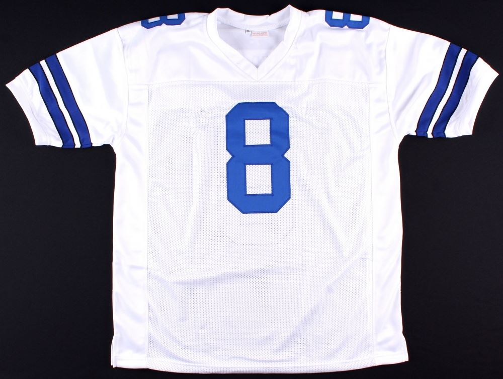 hot sale online d90e4 bdf43 Troy Aikman Cowboys On-Field Style Custom Stitched Jersey ...