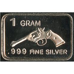 1 Gram .999 Silver Revolver Bullion Bar