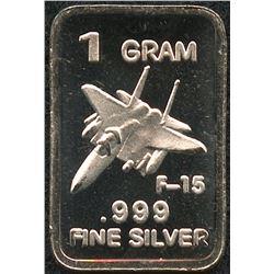 1 Gram .999 Silver USAF F-15 Bullion Bar